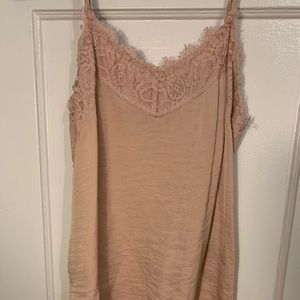 Light pink lace cami